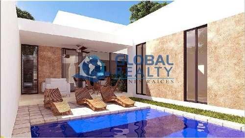 casa en venta una planta, privada en cholul. cv-5122