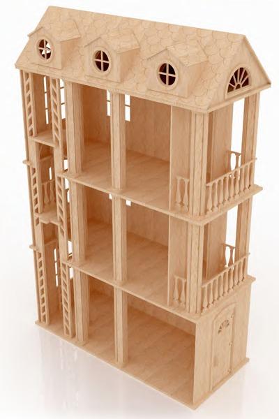 Casa ensue o para mu ecas barbie monster high en madera for Muebles de monster high