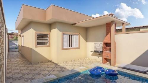 casa escriturada, lado praia - piscina e churrasqueira