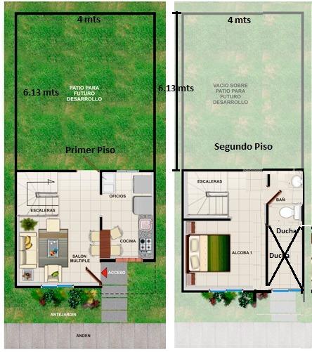 casa esquinera y futura ampliación