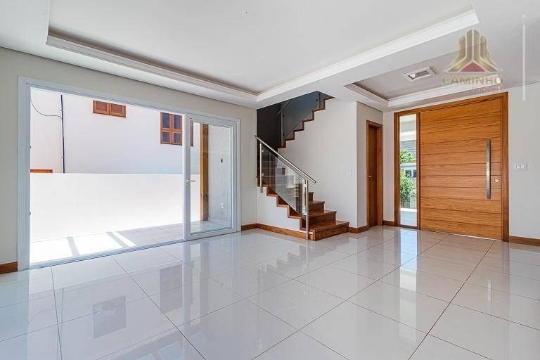 casa estilo sobrado no condomínio horizontal cantegril fase iv em viamão rs - ca0561