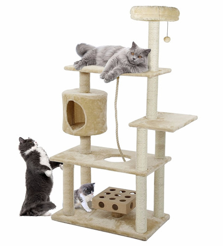 casa gatos multiples plataformas 140 cm alto envio gratis