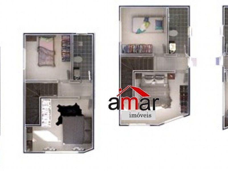 casa geminada com 3 quartos para comprar no xangri-lá em contagem/mg - 613