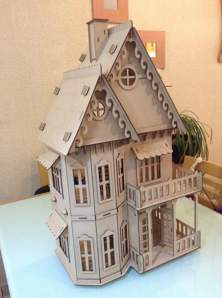 Casa gotica para mu ecas en madera mdf corte laser for Casa revival gotica