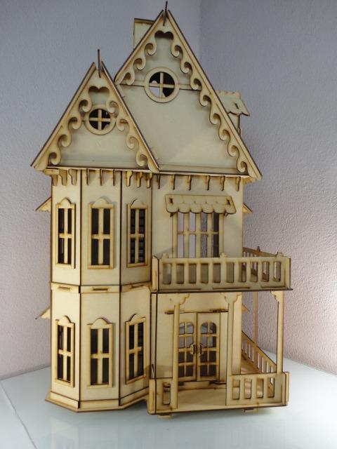 Casa gotica para mu ecas hecha en madera mdf rompecabezas for Casa revival gotica
