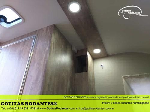casa gotita rodante 250 2/3 personas baño cocina homologada