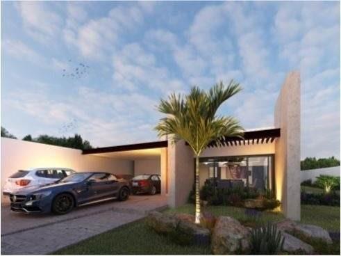 casa hamacas, casa en venta de una planta con piscina en temozon norte