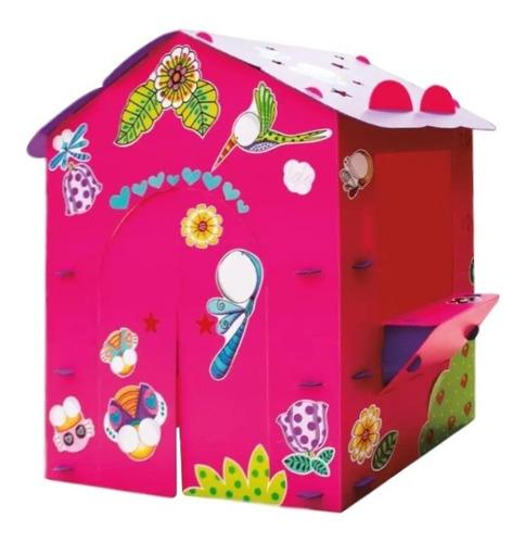casa infantil de juegos color rosa