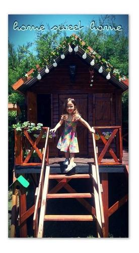 casa infantil modelo cuadrada fabricación en madera