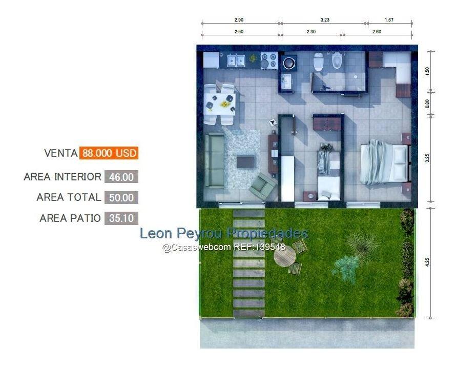 casa, interés social, 2 dormitorios, jardín. goes
