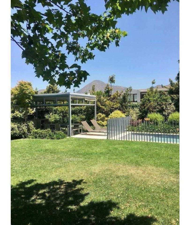 casa, interior, gran jardín, mediterránea, luz, arquitectura, en el valle entre santiago college y monte tabor
