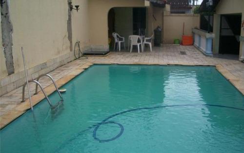 casa isolada em praia grande, maracanã, 3 dorms.,1 suíte, piscina - ca2184