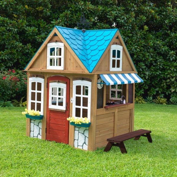 Casa jard n de madera kidkraft 10 en mercado libre for Casas madera ninos jardin