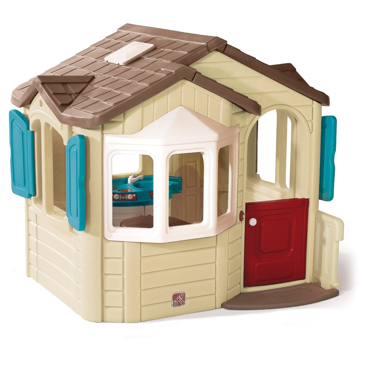 Casa casita infantil juegos ni os playhouse step2 pm0 for Casa de jardin ninos