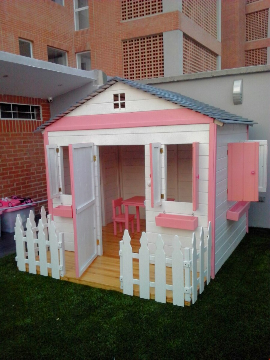 Casa Juegos Niños Madera Jardines Parques Preescolares Guard - Bs ...