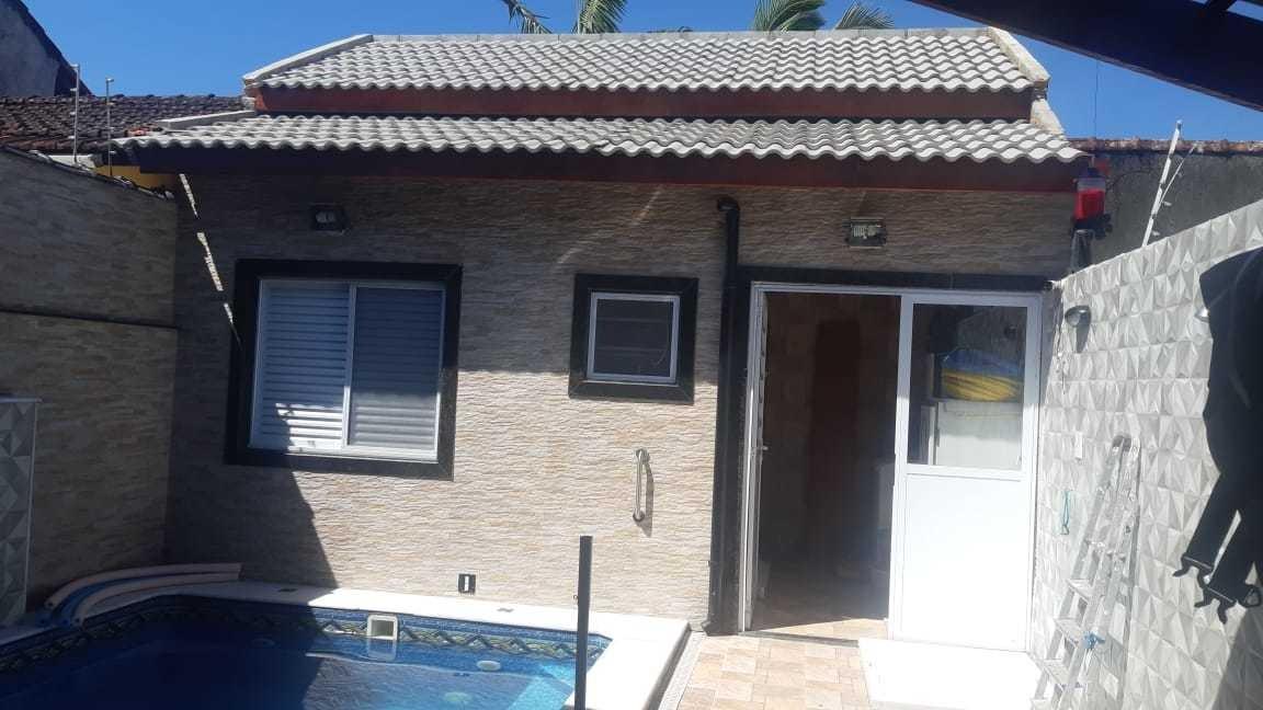 casa lado praia 3 dormitórios, piscina mongaguá  ref: 6888 c