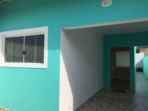 casa lado praia, em itanhaém! com 02 quartos, escritura.