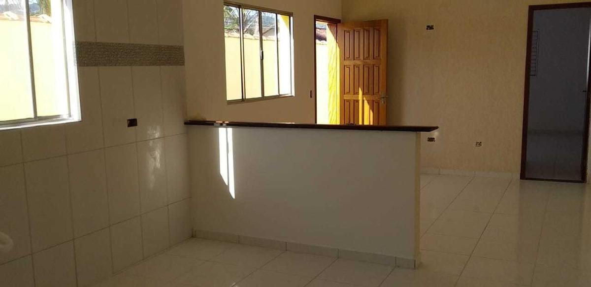 casa linda e nova mcmv em itanhaém c/ espaço para piscina