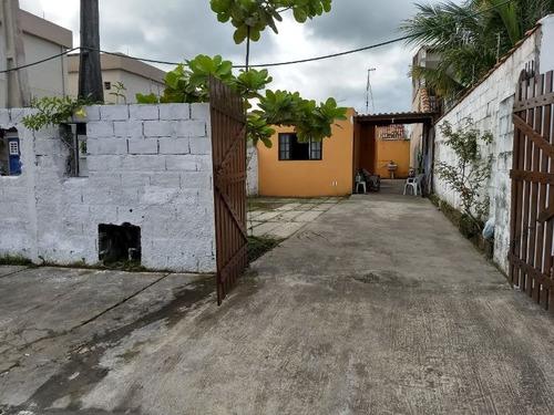casa lote amplo lado praia, 700m do mar, rua calçada!