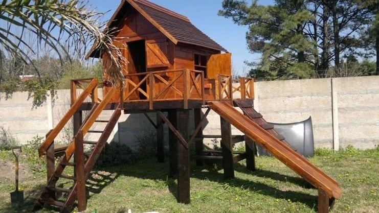 Casa Infantil De Madera Con Juegos Incluye Pintura 4133000 En - Casa-de-juegos-infantiles