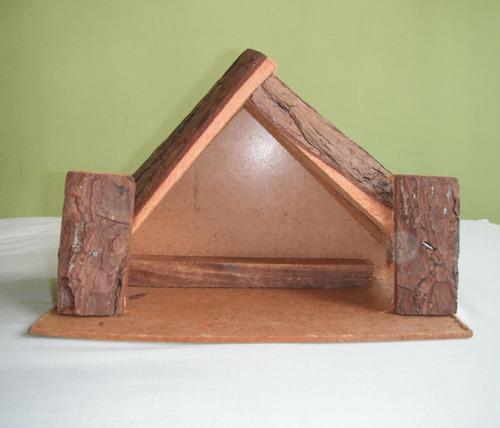 casa madera nacimiento pesebre navidad 20x31x18cm usado
