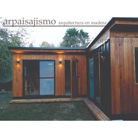 Casa Madera No Es Pre Fabricada Vidriada 25m Co Chapa Cabaña