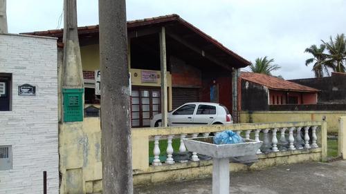 casa mais comércio,em frente a praia, 300m² em rua asfaltada