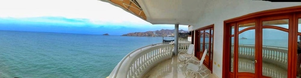 casa mansion rodadero, santa marta con vista al mar y playa