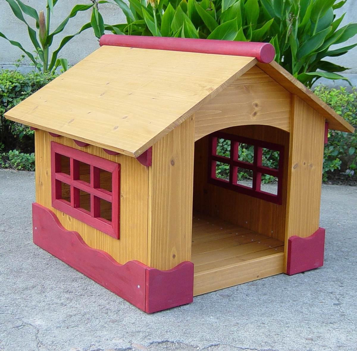 Casa para mascotas perros madera peque a vv4 3 - Casa de mascotas ...