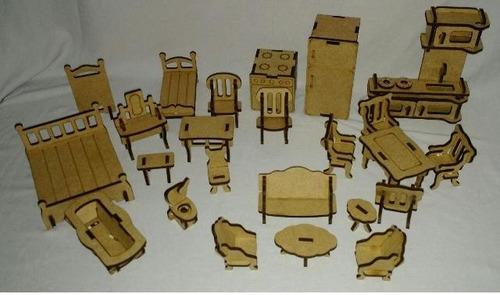 casa mdf p bonecas polly grátis 24 móveis