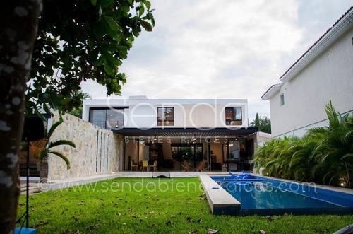 casa moderna en venta en la ceiba con club de golf, en mérida, yucatán