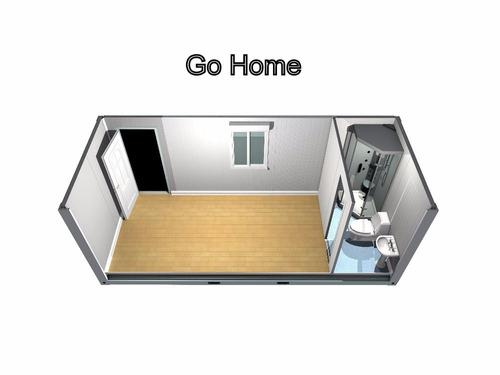 casa monoambiente estilo minimalista