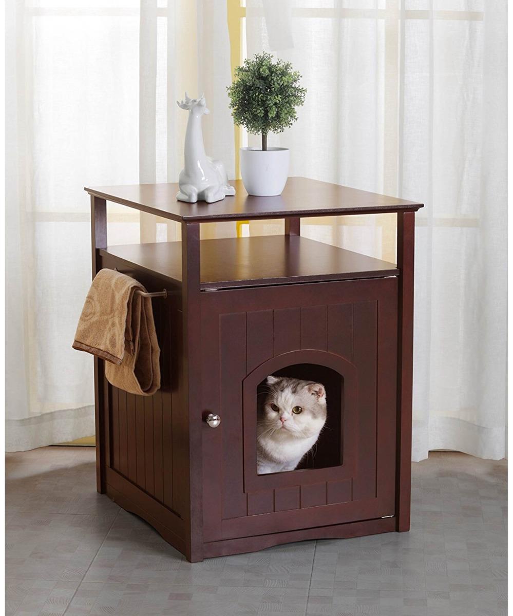 Casa Mueble Para Gatos O Perros Discreto Espresso - $ 3,800.00 en ...