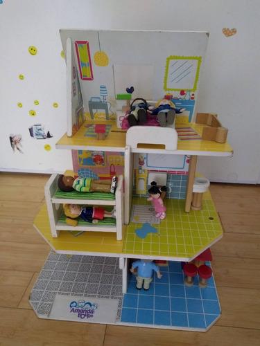casa muñecas amanda troup imaginarium con accesorios madera