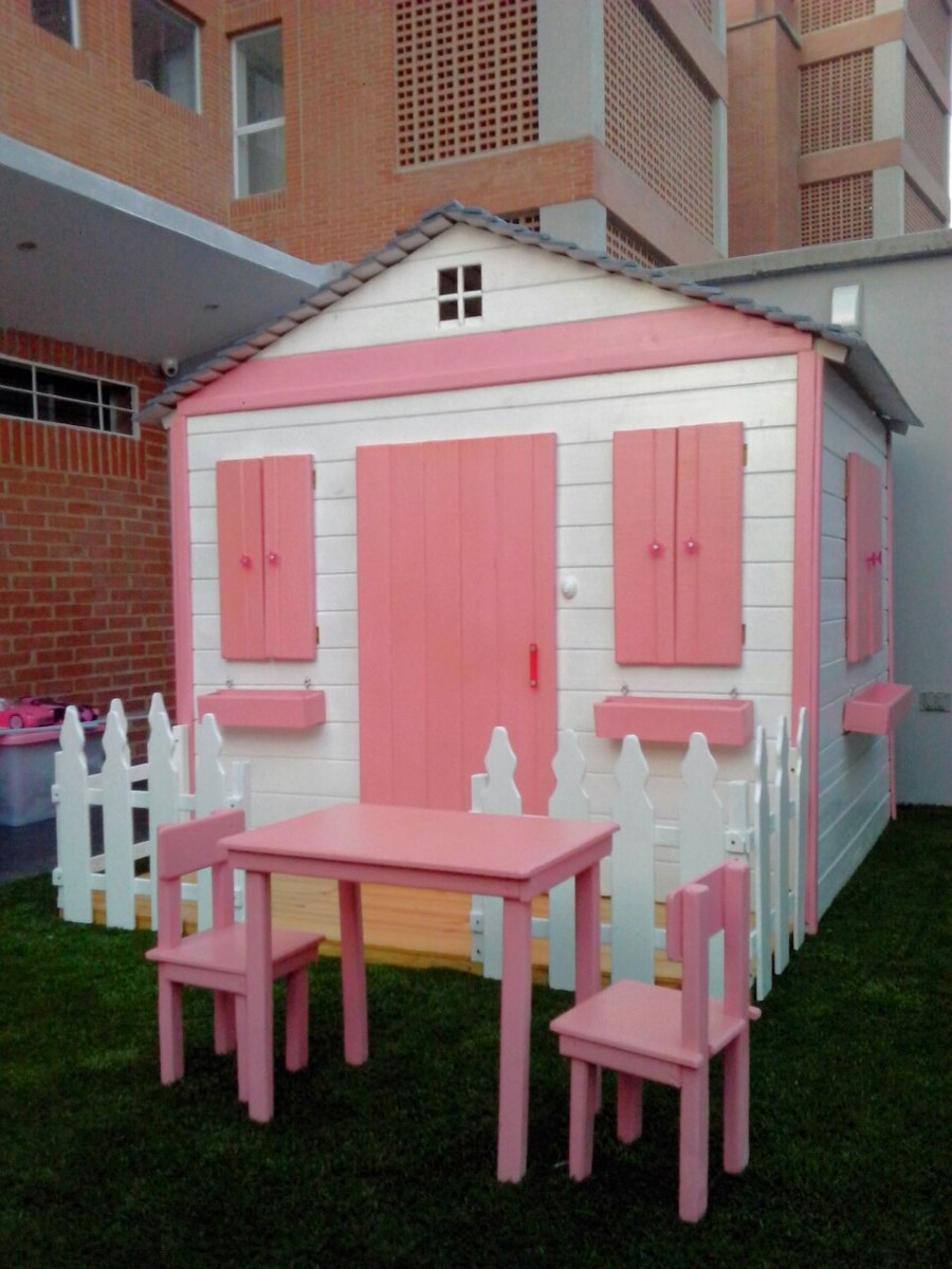 Casa mu ecas barbie juguete juegos ni os madera jard n bs en mercado libre for Juegos de jardin infantiles de madera