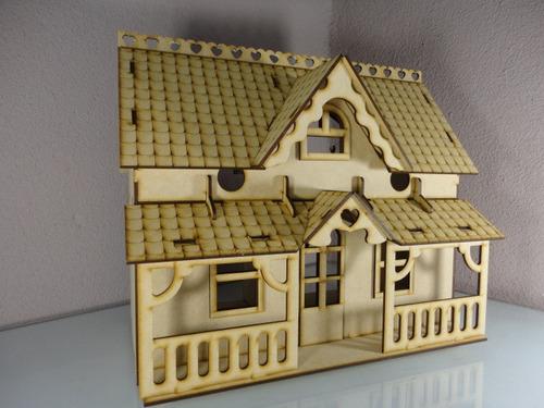 Casa De Muñecas Hecha En Madera Mdf  $ 20000 en Mercado Libre