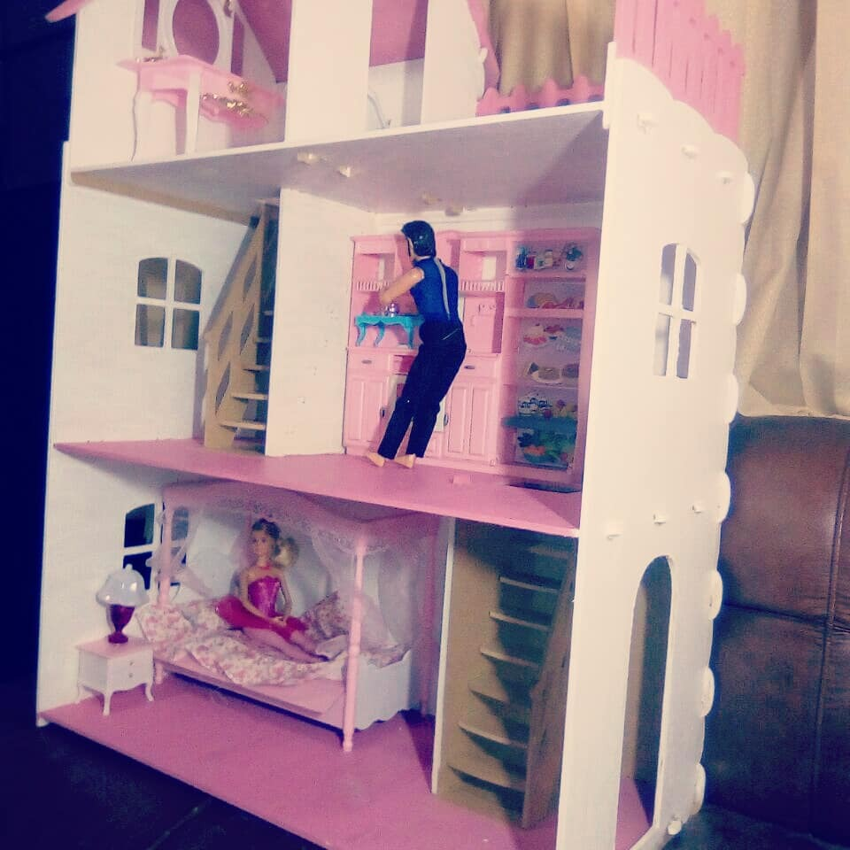 Casa mu ecas casita barbie juguete navidad infantil ni as s 210 00 en mercado libre - La casa de barbie de juguete ...