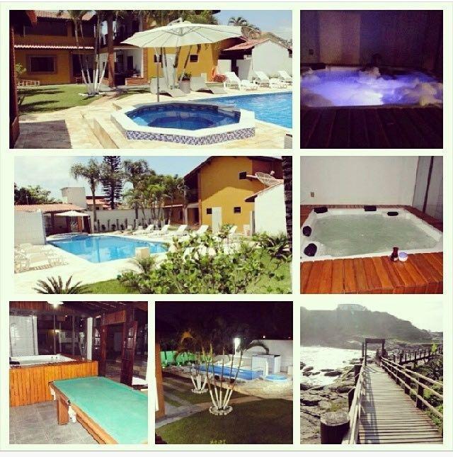 casa na praia com piscina aquecida,2spar ofuro,sauna, ar con