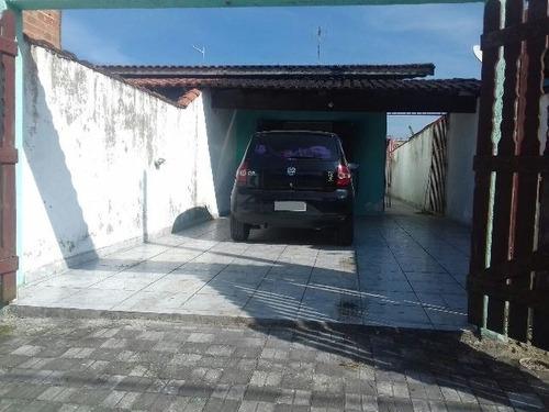 casa na praia de mongaguá, 2 dorm, área social, com escritur