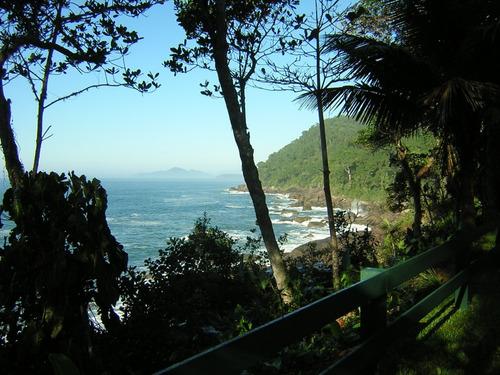 casa na praia do félix ubatuba de frente para o mar