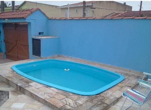 casa na praia,2 dormitórios, piscina, 50 metros do mar (997