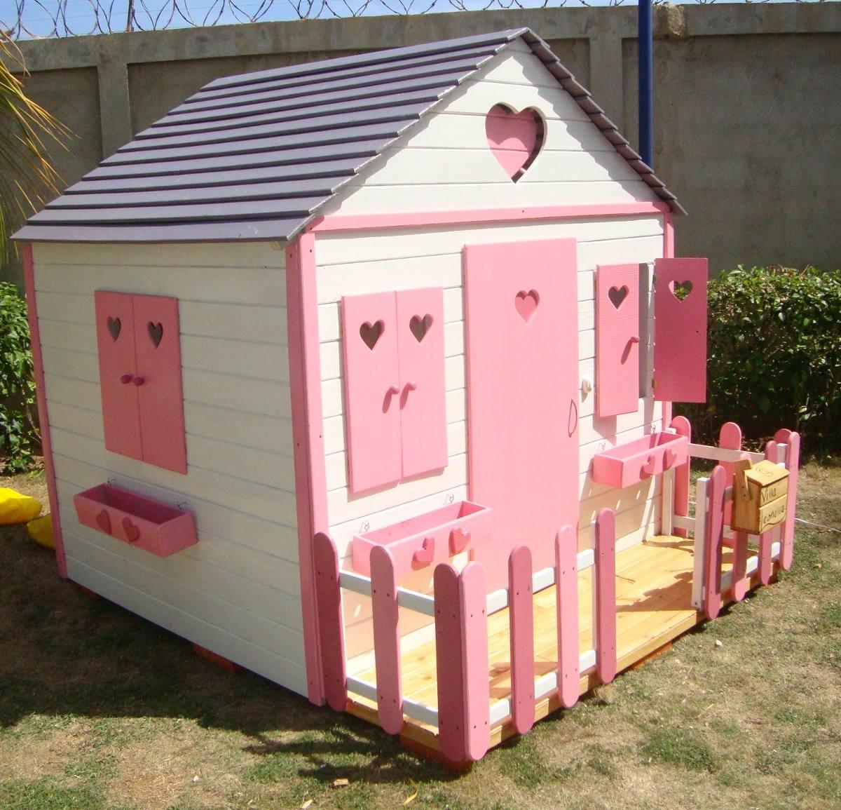 Casa ni as juguete grande madera para jardines bs for Casa de juguetes para jardin
