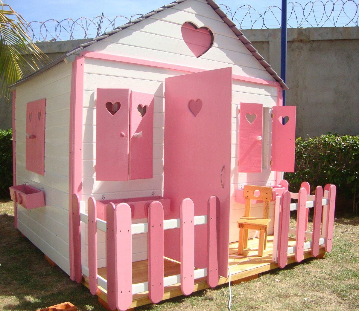 Casa ni as juguete grande madera para jardines bs for Casas de juguete para jardin baratas