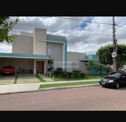 casa no condomínio florais dos lagos com 4 dormitórios à venda, 533 m², 2 lotes r$ 3.200.000 - condomínio residencial florais dos lagos - cuiabá/mt - ca1088