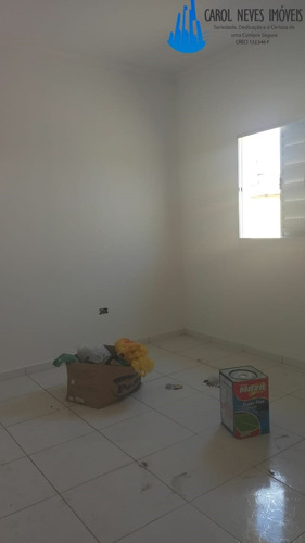 casa nova 2 dormitórios mongaguá, 160 mil! - 3305