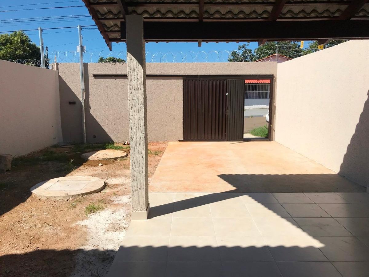 casa nova 3/4, 01 st, 90m² ac e 225m² lote, r$220 mil.
