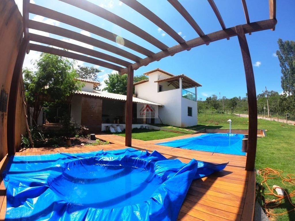 casa nova a venda no condomínio vale do luar próximo lagoa santa - 3896