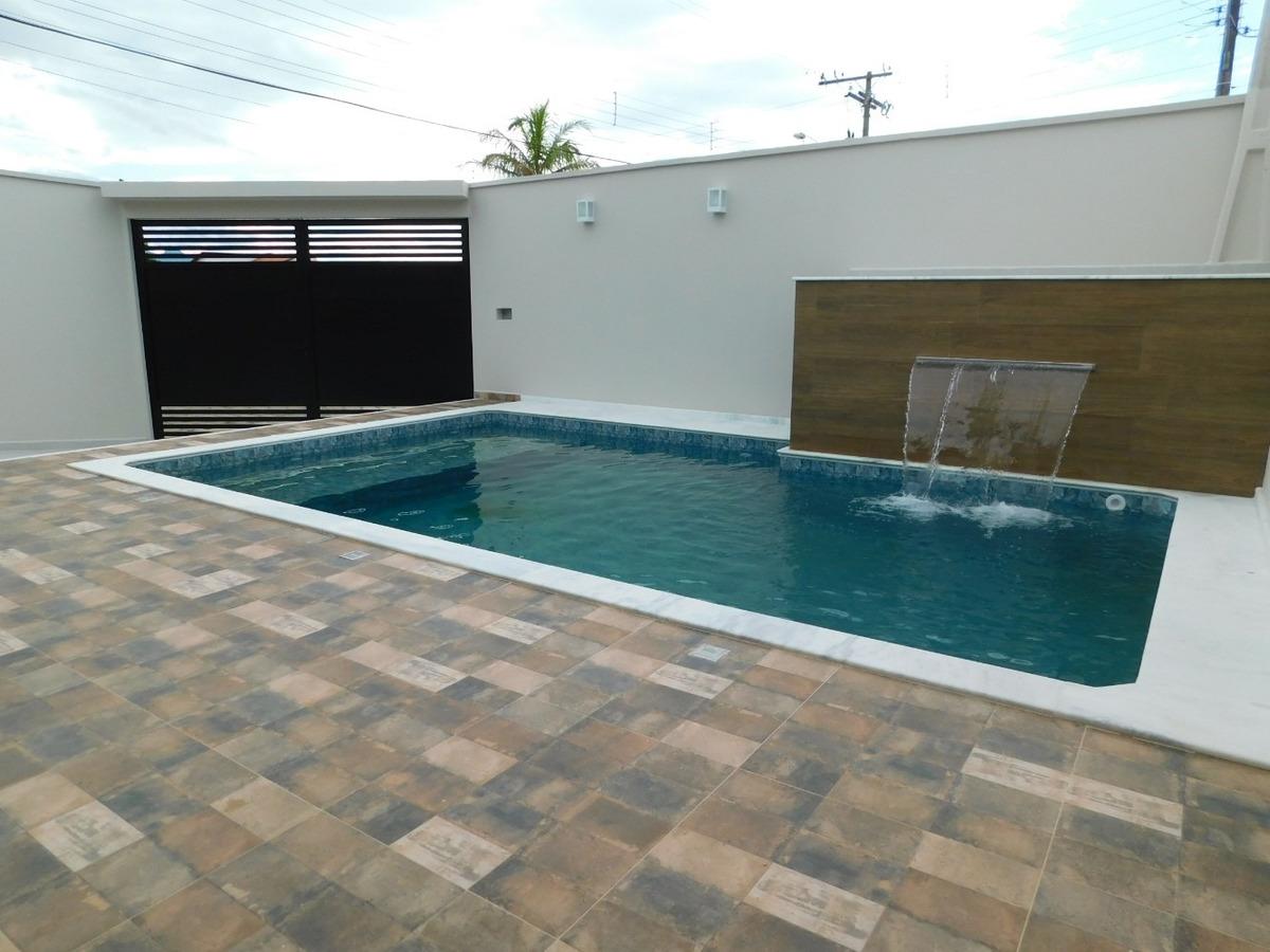 casa nova com piscina a venda na praia de peruíbe