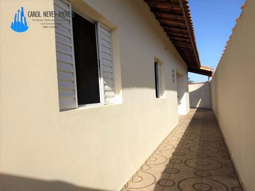 casa nova isolada a 550 metros da praia aceita financiamento - 2651