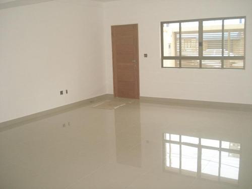 casa nova térrea no campo grande em santos - ca0021